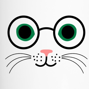 chat lunettes - Mug thermos