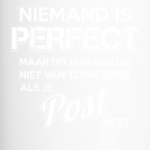 Niemand is perfect. Persoonlijk cadeau Post. - Thermo mok