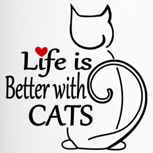 Life is better with Cats - Thermobecher