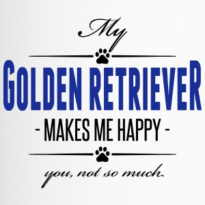 My Golden Retriever makes me happy - Thermobecher