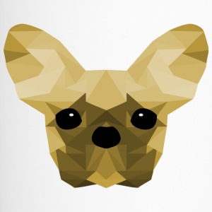 French Bulldog giallo Low Poly design - Tazza termica