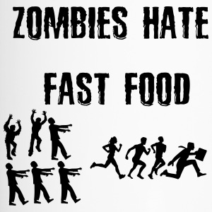 Zombies déteste fast food - Mug thermos