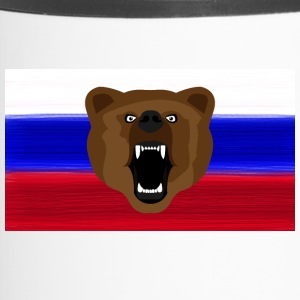 Russische Bear / Russia / Россия, Rossia, vlag - Thermo mok