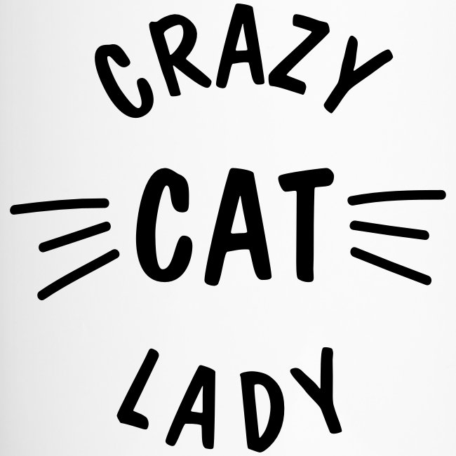 Vorschau: Crazy Cat Lady meow - Thermobecher