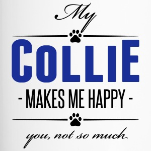 My Collie makes me happy - Thermobecher