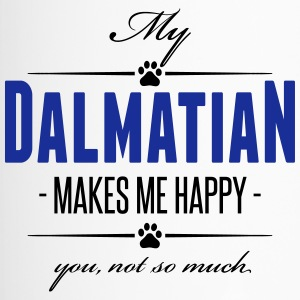 My Dalmatian makes me happy - Thermobecher