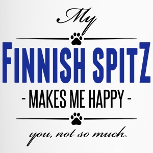 My Finnish Spitz makes me happy - Thermobecher