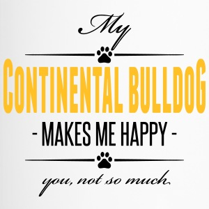 My Continental Bulldog makes me happy - Thermobecher