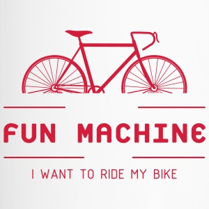 Cyclist from passion with the fun machine. - Travel Mug