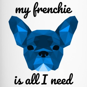 Low Poly Frenchie blue - Thermobecher