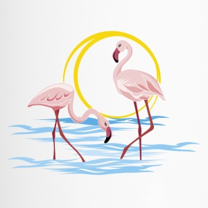 flamingos - Travel Mug