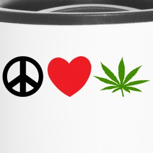 Peace Love Marijuana Cannabis Weed Pot - Tazza termica