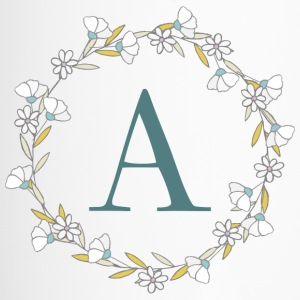 Floral Monogram Letter A - Termokrus