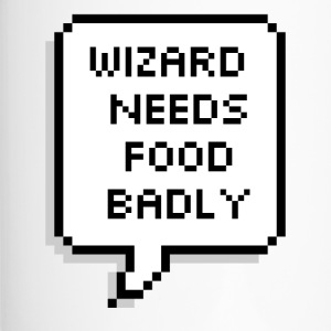 Wizard needs food badly - Travel Mug
