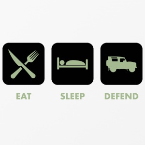 Eat, Sleep & Defend - Custodia rigida per iPhone 4/4s