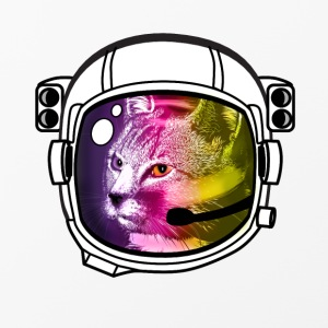 astro rainbow cat helmet nasa outer space stars brisk - iPhone 4/4s Hard Case