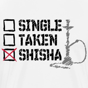 SINGLE? TAS? SHISHA! - Premium-T-shirt herr