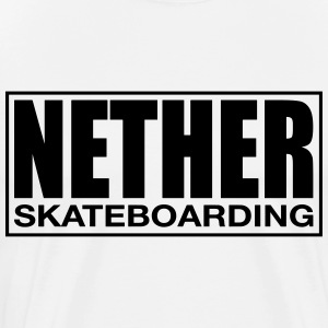 Nether Skateboarding T-shirt White - Mannen Premium T-shirt