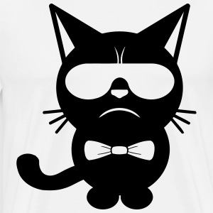Bow Tie Cat - Premium T-skjorte for menn
