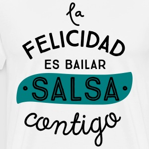 HAPPINESS IS DANCING SALSA CONTIGO - Men's Premium T-Shirt