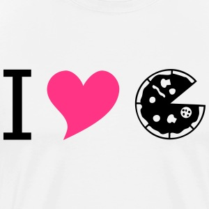 I love pizza pink - Men's Premium T-Shirt
