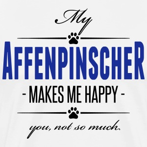 My Affenpinscher makes me happy - Männer Premium T-Shirt