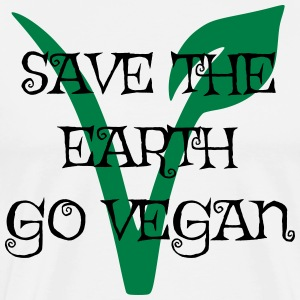 Save the earth go vegan - Men's Premium T-Shirt