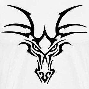 Tribal Dragon Head - Männer Premium T-Shirt