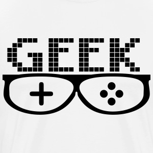 geek Briller - Premium T-skjorte for menn