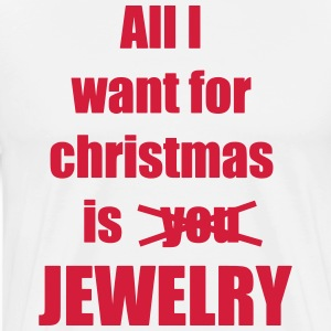 Christmas song saying Jewelry - Men's Premium T-Shirt