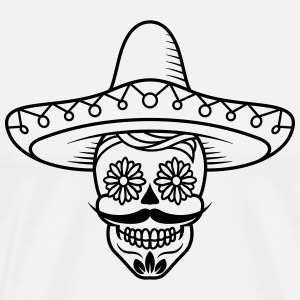 Mexican Sugar Skull head / sugarskull - Men's Premium T-Shirt