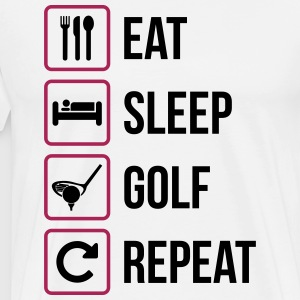 Eat Sleep Golf Répéter - T-shirt Premium Homme