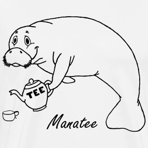 Manatee likes tea - Men's Premium T-Shirt