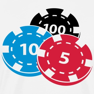 poker chips - Mannen Premium T-shirt