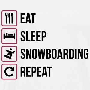 Eat Sleep Snowboarding Repeat - Männer Premium T-Shirt