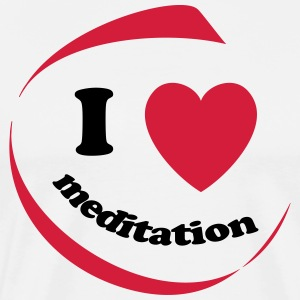 I love meditation - Men's Premium T-Shirt