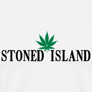 STONED ISLANDE SHIRT WEED - T-shirt Premium Homme