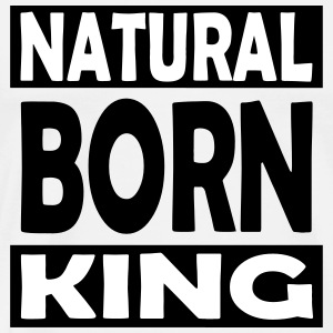 Natural Born kong - Premium T-skjorte for menn