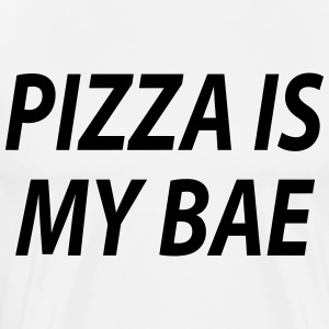 Pizza er mine bae - Premium T-skjorte for menn
