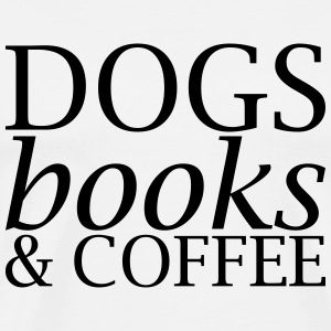 Hundar Books och Coffee - Premium-T-shirt herr