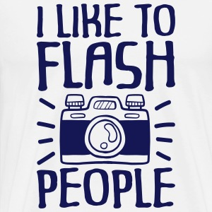 I Like to Flash People fotograaf - Mannen Premium T-shirt