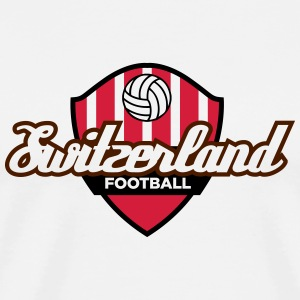 Fotball Crest Of Switzerland - Premium T-skjorte for menn