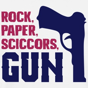 Funny rock paper scissors gun - Men's Premium T-Shirt