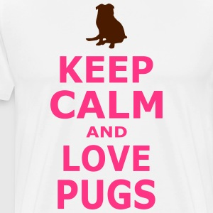 KEEP CALM AND LOVE PUGS - SIMPLE - Men's Premium T-Shirt