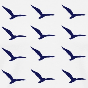 Seagulls Pattern2 - Men's Premium T-Shirt