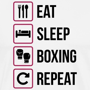 Eat Sleep Boxing Repeat - Premium-T-shirt herr