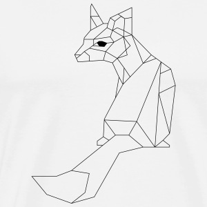 Geometric Fuchs triangles - Men's Premium T-Shirt