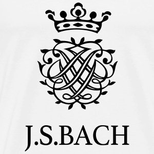 J S Bach and his Seal - Men's Premium T-Shirt