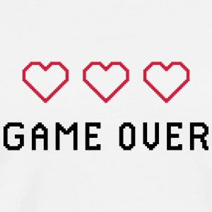RETRO GAME OVER - Premium T-skjorte for menn