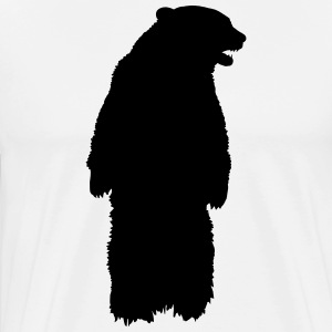 SB ZOO BEAR LOGO - Premium T-skjorte for menn